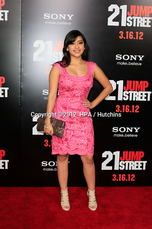 "LOS ANGELES - MAR 13:  Chelsea Rendon arrives at the ""21 Jump Street""  Premiere at the Graumans Chinese on March 13, 2012 in Los Angeles, CA"