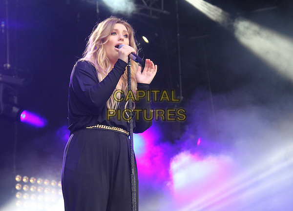 BIRMINGHAM, UNITED KINGDOM - AUGUST 30: Ella Henderson performs onstage during day 1 of Fusion Festival 2014 on August 30, 2014 in Birmingham, England.<br /> CAP/ROS<br /> &copy;Steve Ross/Capital Pictures