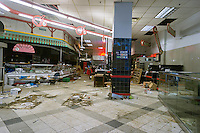 Vacant retail space in Midtown Manhattan in New York, complete with fixtures and debris left over from the previous supermarket tenant, is seen on Sunday, December 23, 2012. (© Richard B. Levine)