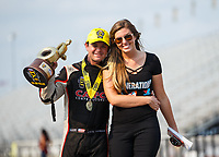 Sep 4, 2017; Clermont, IN, USA; NHRA top fuel driver Steve Torrence celebrates after winning the US Nationals at Lucas Oil Raceway. Mandatory Credit: Mark J. Rebilas-USA TODAY Sports