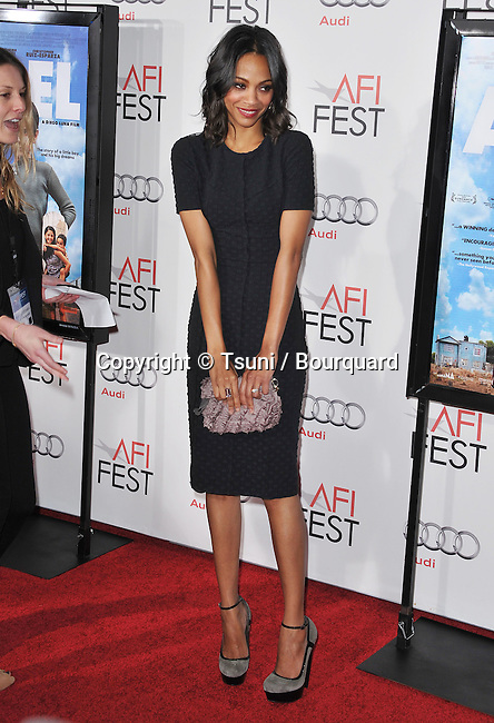 Zoe Saldana  - Abel- AFI Premiere at the Chinese Theatre In Los Angeles.