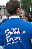 Yes To Europe rally, Trafalgar Square, London.
