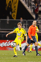25 OCTOBER 2009:  Brian Carroll of the Columbus Crew (16) during the New England Revolution at Columbus Crew MLS game in Columbus, Ohio on October 25, 2009.