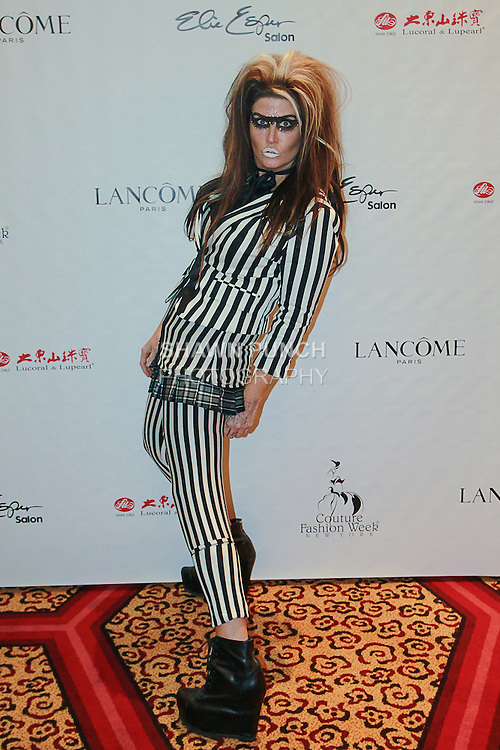 Singer Reagan Richards attends Couture Fashion Week New York Fall 2013, in The New Yorker Hotel on 02/15/13.
