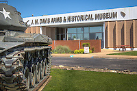 The J.M. Davis Gun Museum is the world's largest privately owned gun collection, located on Route 66 in claremore Oklahoma.
