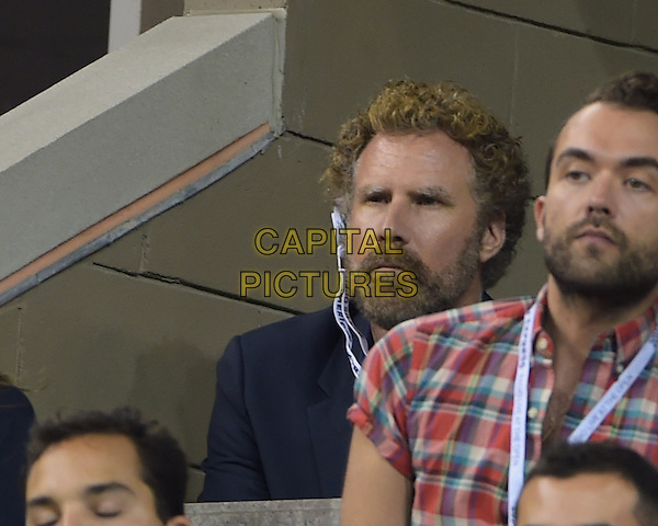 FLUSHING NY- AUGUST 30:  Will Ferrell is seen watching Eugenie Bouchard Vs Barbora Zahiavova Strycova on Arthur Ashe stadium at the USTA Billie Jean King National Tennis Center on August 30, 2014 in Flushing Queens. <br /> CAP/MPI/MPI04<br /> &copy;MPI04/MPI/Capital Pictures