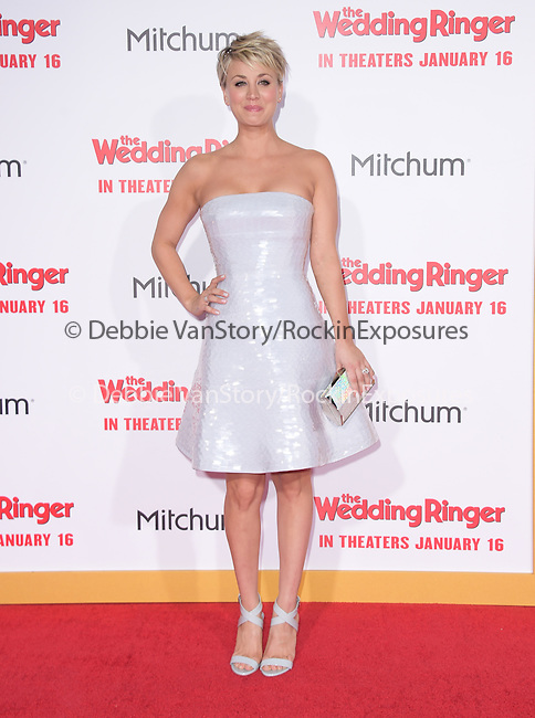 Kaley Cuoco-Sweeting attends The Screen Gems' World Premiere of The Wedding Ringer held at The TCL Chinese Theater  in Hollywood, California on January 06,2015                                                                               © 2015 Hollywood Press Agency