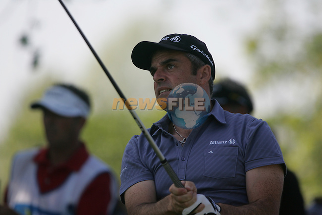 Paul McGinley tees off on the 15th during the first round of the 2008 Irish Open at Adare Manor Golf Resort, Adare,Co.Limerick, Ireland 15th May 2008 (Photo by Eoin Clarke/GOLFFILE)