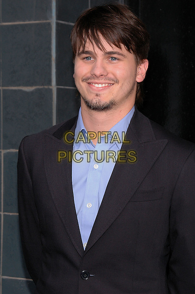 """JASON RITTER.Film Premiere of """"Happy Endings"""" at the Chelsea Clearview Theater in Manhattan, New York, NY, USA, .July 12th 2005..half length blue shirt suit beard.Ref: ADM.www.capitalpictures.com.sales@capitalpictures.com.©Patti Ouderkirk/AdMedia/Capital Pictures."""