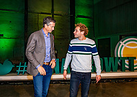 Rotterdam, Netherlands, Oktober 28,  2019, Tennis meets Business, Speaker Jamie Trinite  and Tournament Director Richard Krajicek (L)<br /> Photo: Tennisimages/Henk Koster