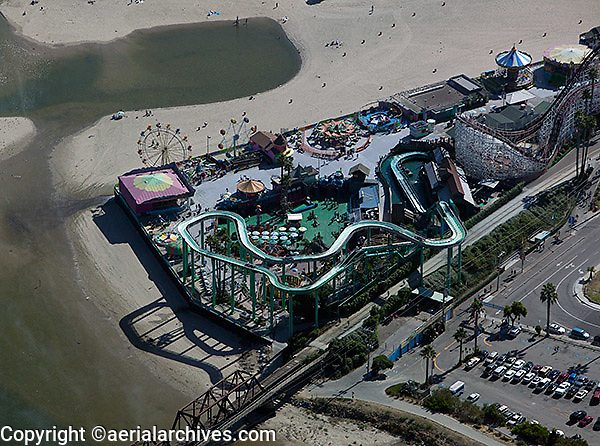 aerial photograph Beach Boardwalk, Santa Cruz, California