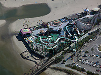 aerial photograph Beach Boardwalk, Santa Cruz, California