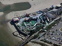 aerial photograph of the Beach Boardwalk, Santa Cruz, California