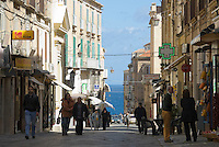 Italy, Calabria, beach resort Tropea: old town lane