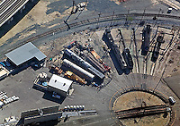 aerial photograph rail turntable Los Angeles, California