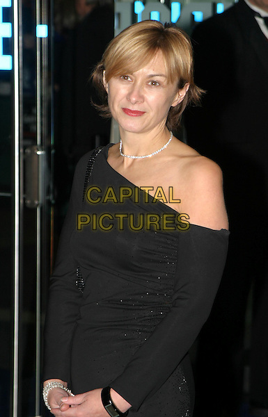 SANDRA HEBRON.Sylvia UK premiere, part of the Times BFI London Film festival closing night gala.one shoulder, asymmetric, diamond necklace, sweeping fringe.www.capitalpictures.com.sales@capitalpictures.com.© Capital Pictures.