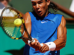 Roland Garros. Paris, France. June 9th 2006..Rafael Nadal against Ivan Ljubicic during the semi finals.
