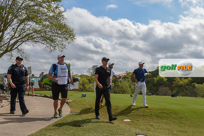 Henrik Stenson (SWE) and Jason Day (AUS) make their way down 3 during day 2 of the WGC Dell Match Play, at the Austin Country Club, Austin, Texas, USA. 3/28/2019.<br /> Picture: Golffile   Ken Murray<br /> <br /> <br /> All photo usage must carry mandatory copyright credit (© Golffile   Ken Murray)