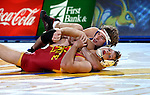 BROOKINGS, SD - NOVEMBER 4:  Luke Zilverberg from South Dakota State controls Colston DeBlasi from Iowa State in their 165 pound match Friday evening at Frost Arena in Brookings. (Photo by Dave Eggen/Inertia)