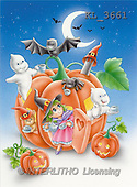 Interlitho, Lorella, REALISTIC ANIMALS, Halloween, paintings, pumpkin, witch, ghosts(KL3661,#A#)
