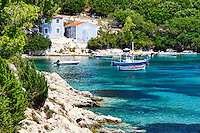The port of Porto Atheras in Kefalonia island, Greece