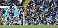 Leicester City's Shinji Okazaki goes past Manchester City's Kevin De Bruyne<br /> <br /> Photographer Stephen White/CameraSport<br /> <br /> The Premier League - Manchester City v Leicester City - Saturday 13th May 2017 - Etihad Stadium - Manchester<br /> <br /> World Copyright &copy; 2017 CameraSport. All rights reserved. 43 Linden Ave. Countesthorpe. Leicester. England. LE8 5PG - Tel: +44 (0) 116 277 4147 - admin@camerasport.com - www.camerasport.com