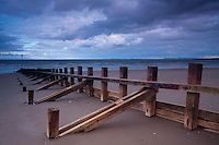 Groynes on Portobello Beach, Lothian