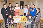 Portmagee Youth Club members who took part in the K.D.Y.S. Youth Factor South West Mini Regional Final's on Friday night last in Foilmore Community Centre pictured front l-r; Fiona Keating, Paul Kennedy, back l-r; Brian Kennedy, Anthony O'Driscoll, Niamh Keating, Diarmuid Keating, Lisa O'Sullivan, Brendan Murphy, Aaron O'Shea, John Murphy & Róisín Ríordáin.