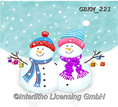 Kate, CHRISTMAS SANTA, SNOWMAN, WEIHNACHTSMÄNNER, SCHNEEMÄNNER, PAPÁ NOEL, MUÑECOS DE NIEVE, paintings+++++Christmas page 83,GBKM221,#x#