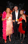 Maureen O'Driscoll-Levy  with Adrian and Lisa O'Malley at the Orange Show Gala at Adickes SculpturWorx Studio  Saturday  Nov. 03,2007.(Dave Rossman/For the Chronicle)