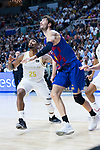 Jordan Mickey (l) and Ante Tomic during Real Madrid vs FC Barcelona final of Supercopa Endesa. September 22, 2019. (ALTERPHOTOS/Francis González)