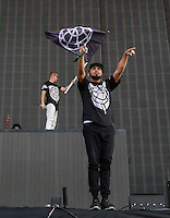 MAJOR LAZER perform during The New Look Wireless Music Festival at Finsbury Park, London, England on Friday 03 July 2015. Photo by Andy Rowland.