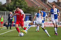 Lewis Coyle of Fleetwood Town is challenged by Liam Sercombe of Bristol Rovers during the Sky Bet League 1 match between Bristol Rovers and Fleetwood Town at the Memorial Stadium, Bristol, England on 26 August 2017. Photo by Mark  Hawkins.