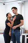 """Tiare Keeno and Matt Doyle during a press Sneak-Peek for The Joyce Theater's presentation of """"Freddie Falls in Love"""" at Gibney Dance on July 15, 2019 in New York City."""