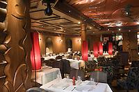 Europe/France/Rhone-Alpes/74/Haute-Savoie/Megève: Restaurant: Les Enfants Terribles dans l' Hôtel: le Mont Blanc