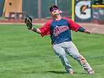 8 July 2014: Lowell Spinners first baseman Cisco Tellez in action against the Vermont Lake Monsters at Centennial Field in Burlington, Vermont. The Lake Monsters rallied in the 9th inning to defeat the Spinners 5-4 in NY Penn League action. Mandatory Credit: Ed Wolfstein Photo *** RAW Image File Available ****