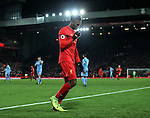 Liverpool's Daniel Sturridge celebrates scoring his sides fourth goal during the Premier League match at Anfield Stadium, Liverpool. Picture date December 27th, 2016 Pic David Klein/Sportimage