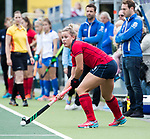 UTRECHT -   Lieke van Wijk (Laren) tijdens de hockey hoofdklasse competitiewedstrijd dames:  Kampong-Laren (2-2). COPYRIGHT KOEN SUYK