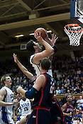 November 28, 2008. Durham, NC.. Duke vs. Duquesne at Cameron Indoor Stadium..Big man, Brian Zoubek, center, had 6 points and 5 rebounds in the 95-72 Duke victory.