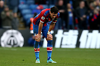 3rd November 2019; Selhurst Park, London, England; English Premier League Football, Crystal Palace versus Leicester City; A dejected Joel Ward of Crystal Palace after the 0-2 loss - Strictly Editorial Use Only. No use with unauthorized audio, video, data, fixture lists, club/league logos or 'live' services. Online in-match use limited to 120 images, no video emulation. No use in betting, games or single club/league/player publications
