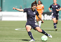 Homare Sawa #10 of Washington Freedom makes a pass during a WPS match against Sky Blue FC at RFK Stadium on May 23, 2009 in Washington D.C. Freedom won the match 2-1