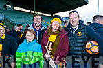 Gearoid Sugrue,Ger Sugrue,  Sinead O'Meara and Billy Collins Dr Crokes Supporters pictured after the County final at Austin Stack Park on Sunday.