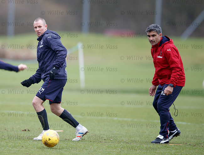 Kenny Miller and assistant manager Helder Baptista