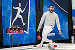UNIVERSITY PARK, PA - MARCH 25: Ziad Elsissy of Wayne State University reacts after losing the final point to Eli Dershwitz of Harvard University in the saber competition during the Division I Men's Fencing Championship held at the Multi-Sport Facility on the Penn State University campus on March 25, 2018 in University Park, Pennsylvania. (Photo by Doug Stroud/NCAA Photos via Getty Images)