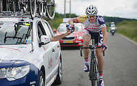 supplies for Adam Hansen (AUS)<br /> <br /> 2013 Ster ZLM Tour <br /> stage 4: Verviers - La Gileppe (186km)
