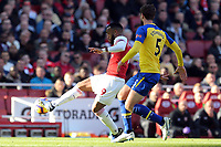 Jack Stephens of Southampton and Alexandre Lacazette of Arsenal during Arsenal vs Southampton, Premier League Football at the Emirates Stadium on 24th February 2019