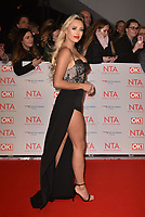 Amber Turner attending the National Television Awards 2018 at The O2 Arena on January 23, 2018 in London, England. <br /> CAP/Phil Loftus<br /> &copy;Phil Loftus/Capital Pictures