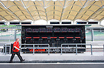 02 Apr 2009, Kuala Lumpur, Malaysia ---  A crew member walks past theVodafone McLaren Mercedes pit lane's control desk during the 2009 Fia Formula One Malasyan Grand Prix at the Sepang circuit near Kuala Lumpur. Photo by Victor Fraile --- Image by © Victor Fraile / The Power of Sport Images