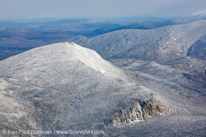 Mount Garfield from Mount Lafayette during the winter months in the White Mountains, New Hampshire. The Pemigewasset Wilderness is also visible in this image.