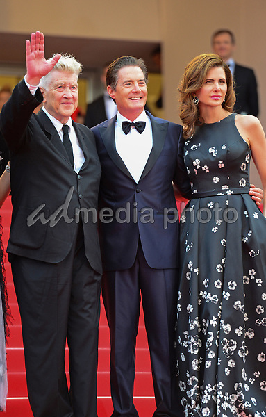 "25 May 2017 - Cannes, France - David Lynch, Kyle MacLachlan, Desiree Gruber. ""Twin Peaks"" Premiere - The 70th Annual Cannes Film Festival. Photo Credit: Jan Sauerwein/face to face/AdMedia"